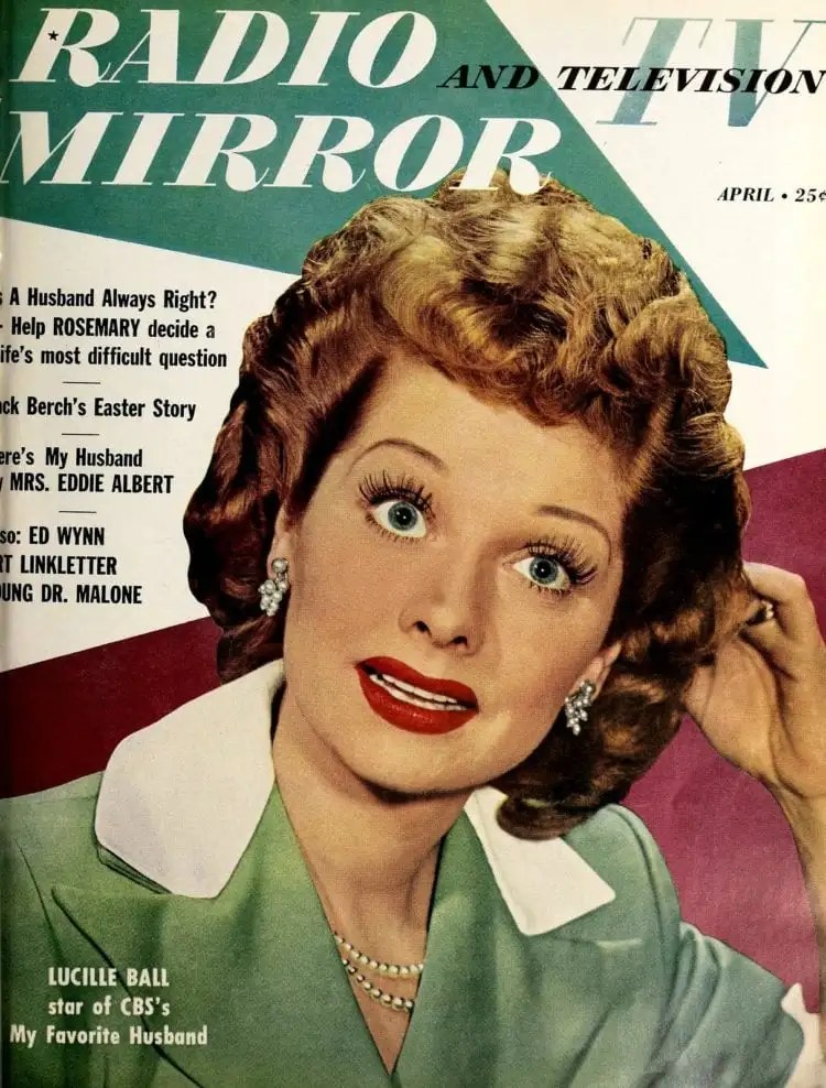 Lucy Lucille Ball on the cover of Radio and Television Mirror magazine