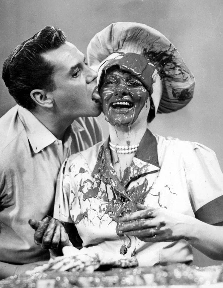 Desi Arnaz And Lucille Ball In 'I Love Lucy'
