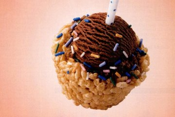 Make Rice Krispie birthday ice cream cups! (1997)