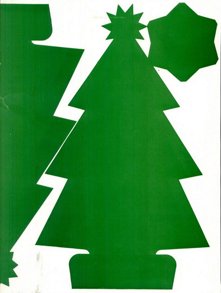 Make this Christmas tree craft project from 1950 (2)