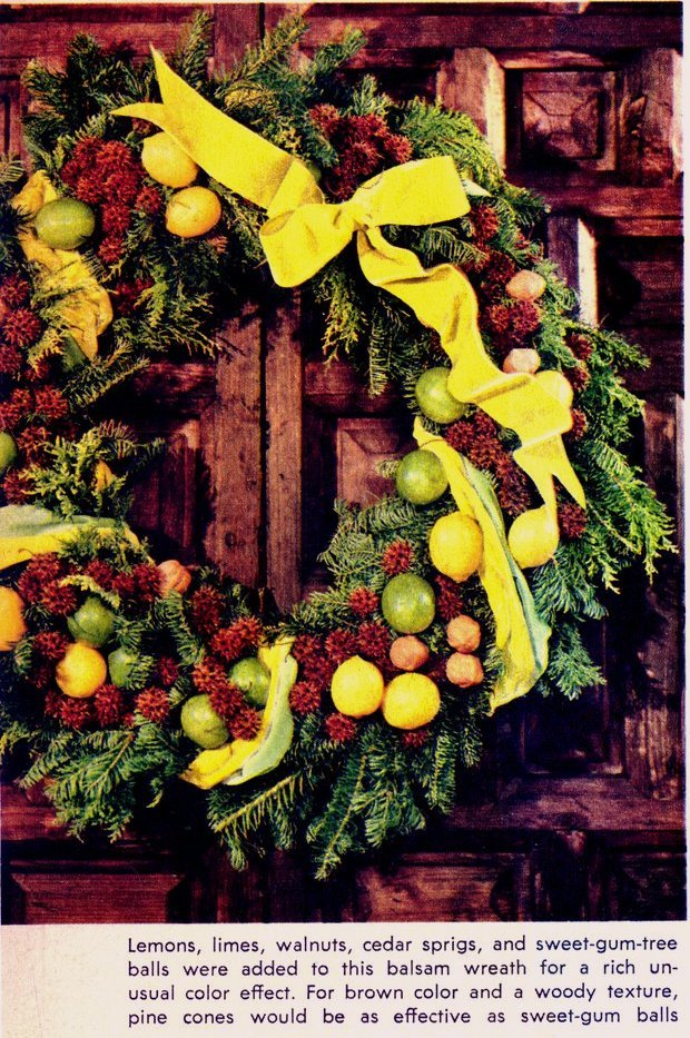 Make vintage-style handmade Christmas wreaths with this craft how-to from 1964 (2)