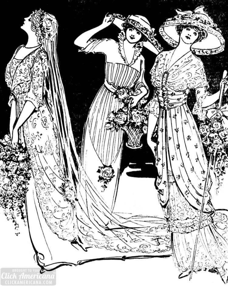 New York wedding etiquette and bride from 1912