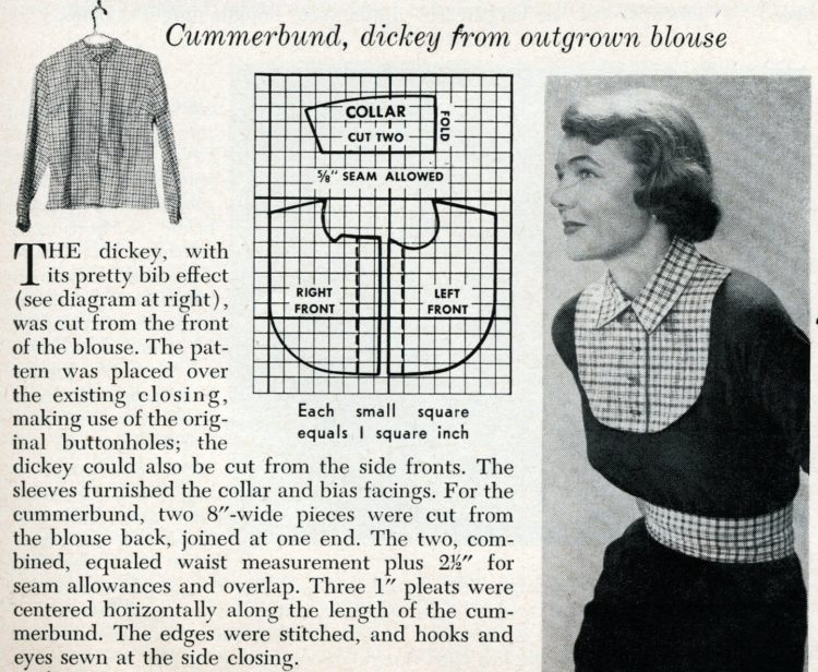 New accessories from old plaids How to use old clothing to sew something new from 1950 (1)