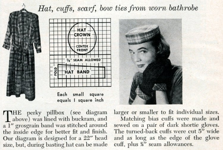 New accessories from old plaids How to use old clothing to sew something new from 1950 (2)