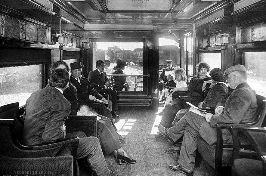 Observation car on a deluxe overland limited train2