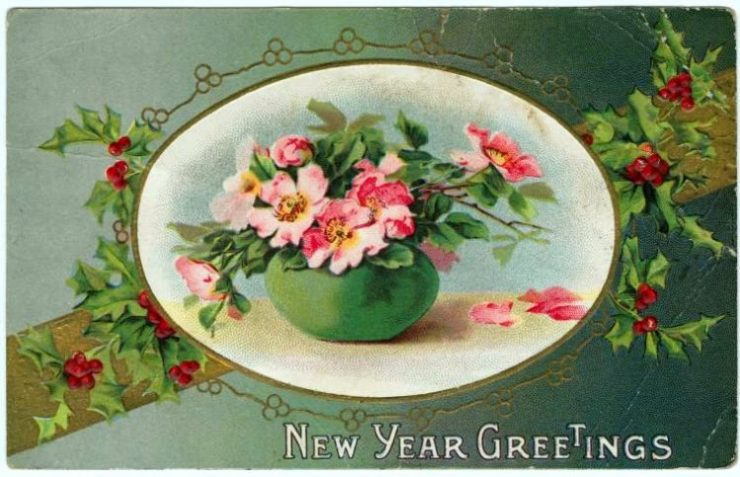 Old-fashioned New Year's postcards from Click Americana (3)