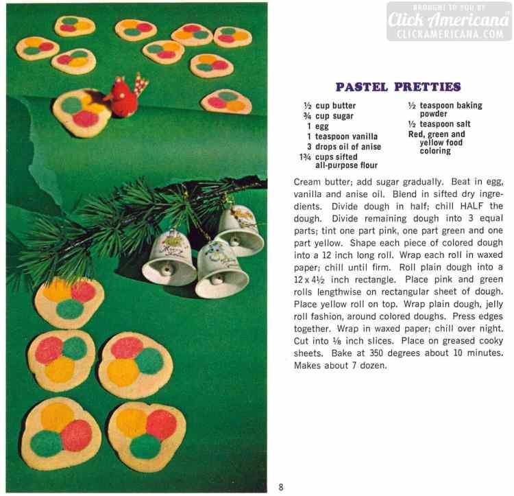 Pastel pretties retro Christmas cookies from 1967