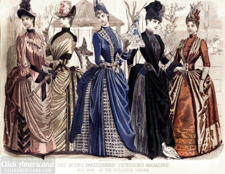 Peterson's Magazine 1888 colored dresses