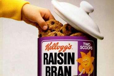 Raisin Bran cookies - vintage recipe