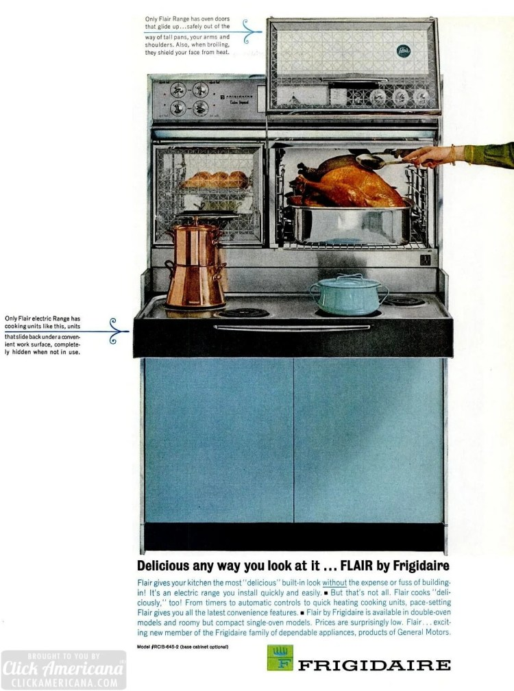 Retro kitchen appliances from 1963 - Flair ranges for the mid-century kitchen