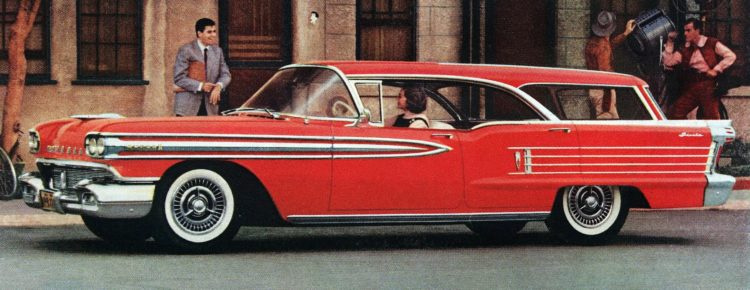 See the 1958 Oldsmobile's dramatic new look! (1957)