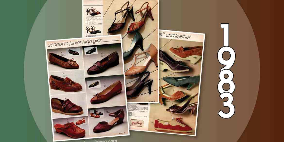 Women's shoes from the 1983 JC Penney catalog