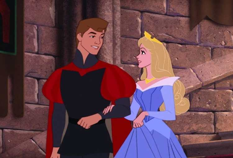 Sleeping Beauty with the prince