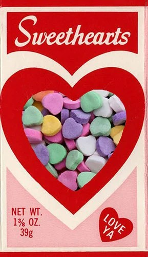 Sweethearts vintage candy box
