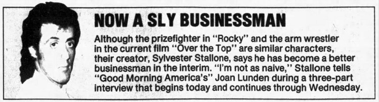 Sylvester Stallone talks Rambo and Rocky on Good Morning America (Feb 1987)