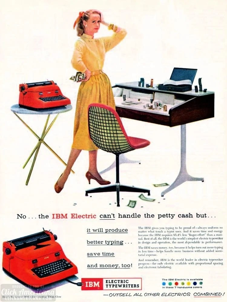 The IBM gives you typing to be proud of (1957)