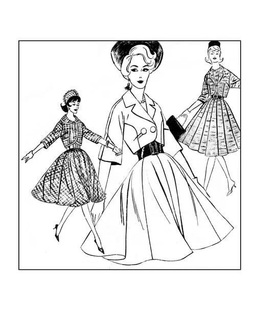 click americana s shop see cool fashions vintage coloring books Pocahontas Sets Vintage Fashion 1966 adult coloring books fashion history