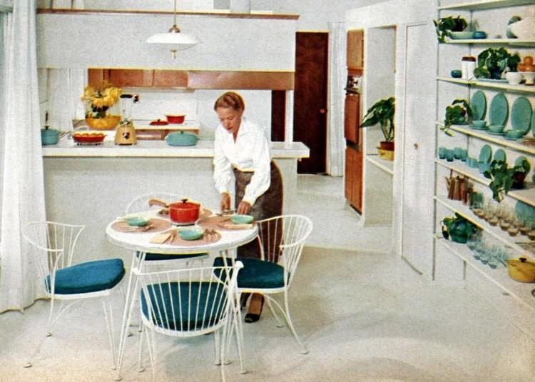 Basic 1950s prefab home - kitchen