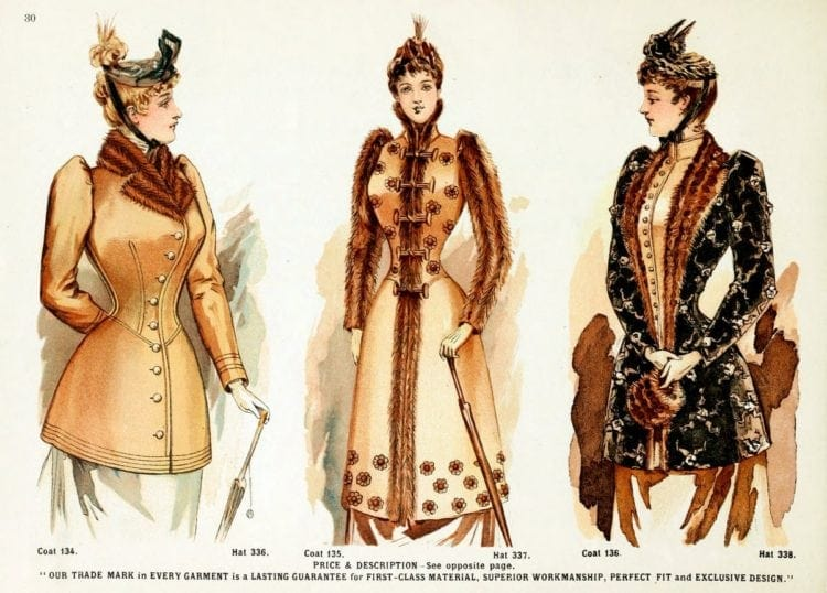 The Victorian lady's way to keep warm: Fall & winter clothing from 1891
