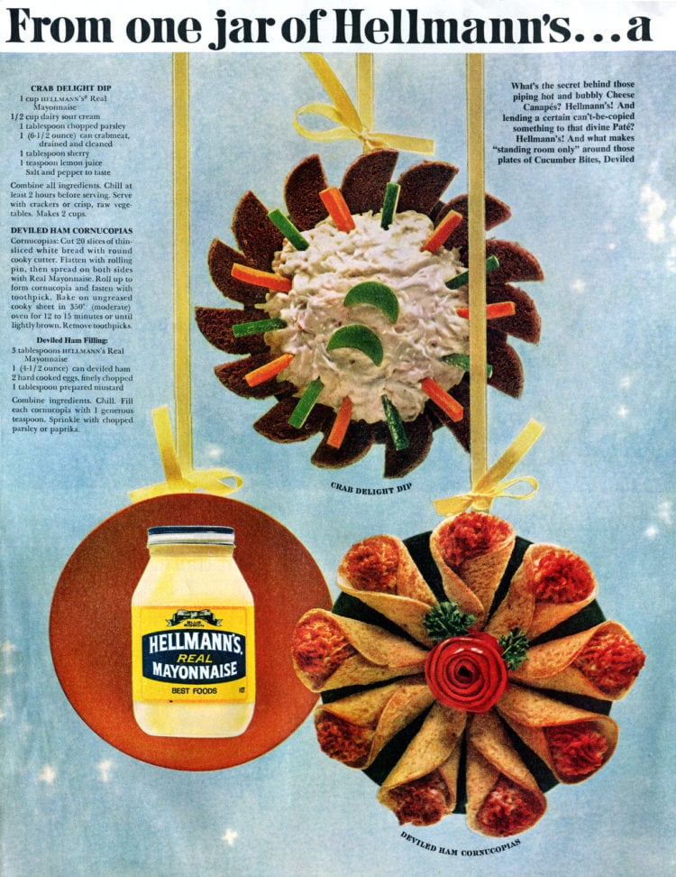 Vintage Christmas appetizers from November 1965 (2)