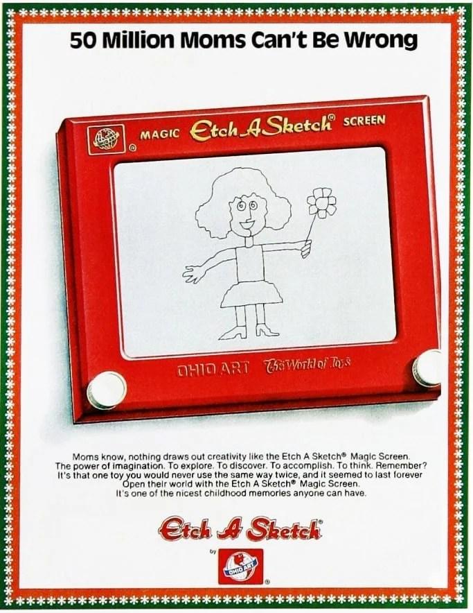 Vintage Etch a Sketch ad