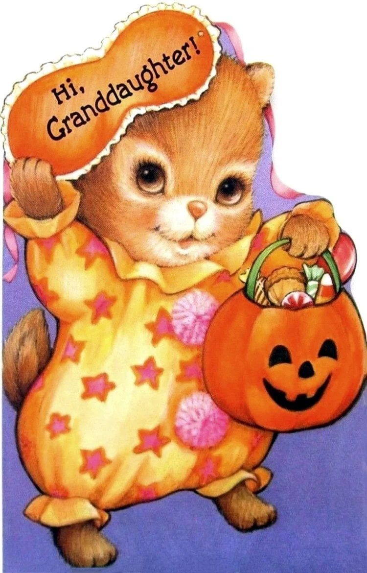 Vintage Hallmark cute halloween greeting card from the 70s