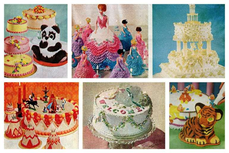 Vintage Wilton cake decorating yearbooks from the '70s