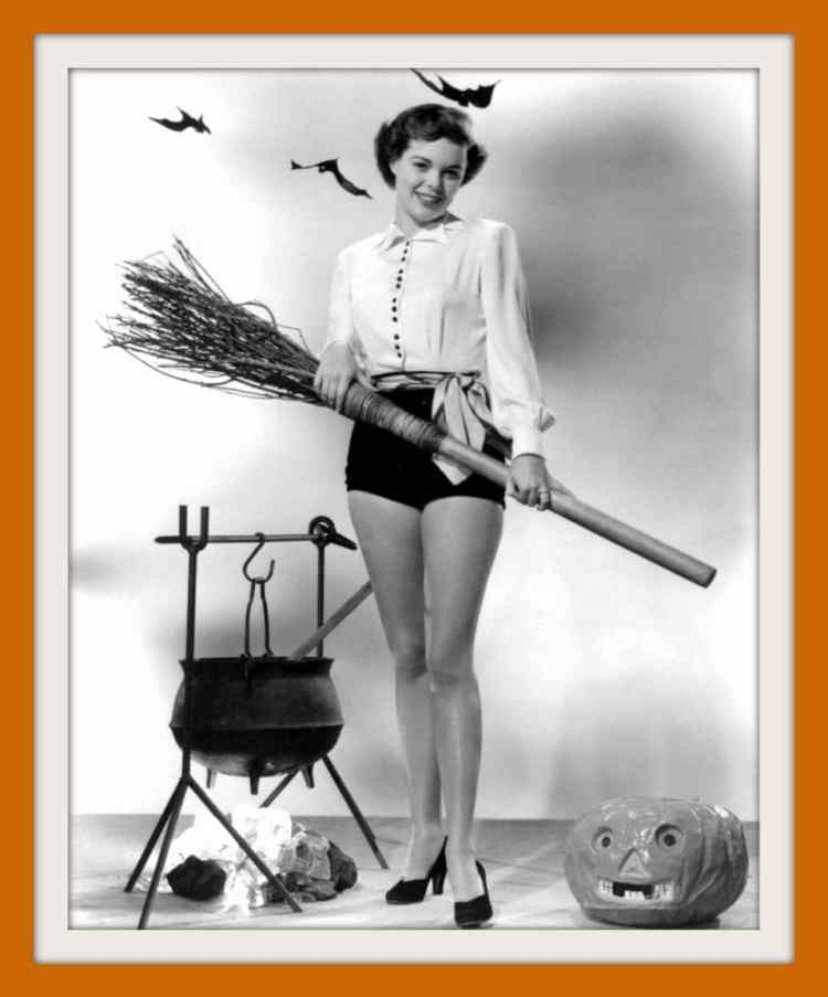 Vintage actress Halloween Pinup girl Nancy Gates