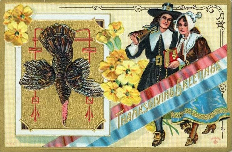 Vintage and antique Thanksgiving postcards from the early 1900s (14)