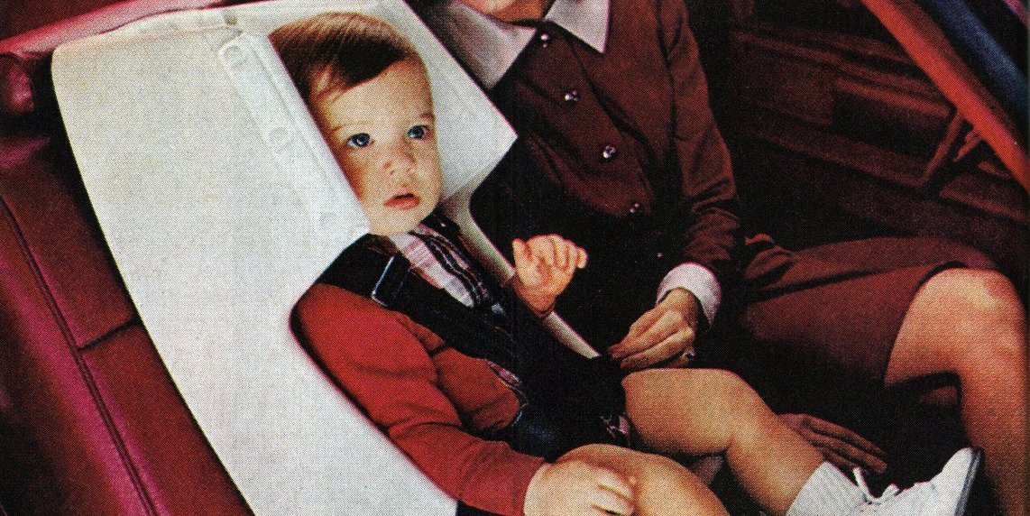 Retro baby car seats from the '60s, '70s & '80s: Forward- & rear-facing vintage auto safety seats for kids