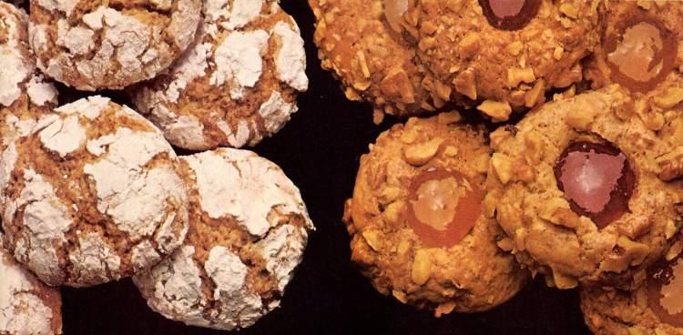 Vintage jam thumbprint cookies - spiced crackle cookies