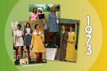 Vintage dresses - skirts from the 1973 JC Penney catalog