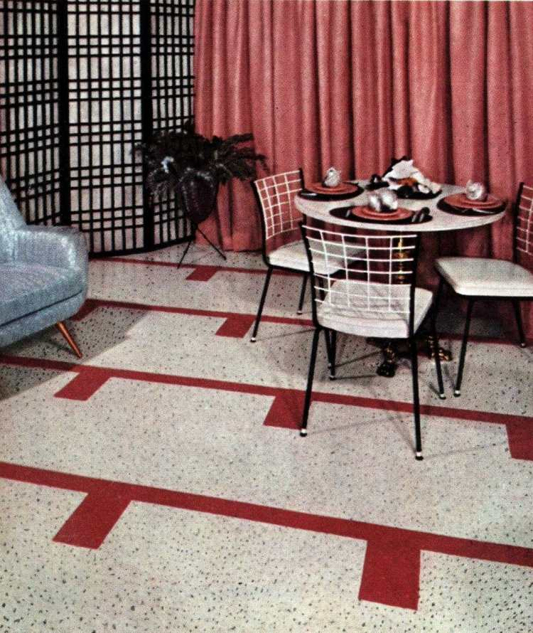 Vintage floor tile from 1957