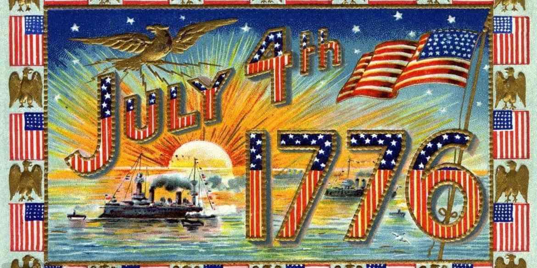 Vintage postcard July 4 1776