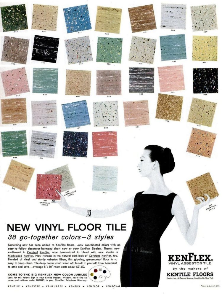 Vintage vinyl tile colors Oct 8, 1956 Kenroyal