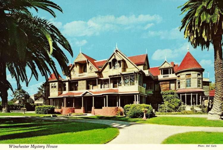 Winchester Mystery House 1972 postcard