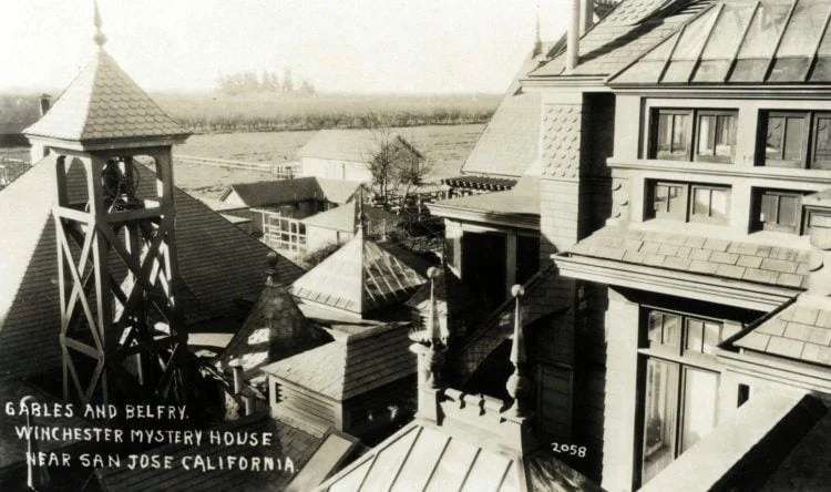 Winchester Mystery House postcard c1900