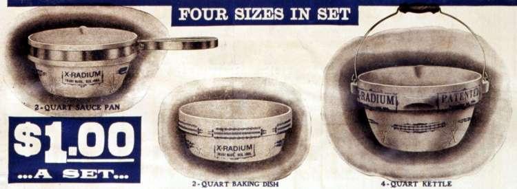 X-radium cooking utensils Make your food radioactive! (1905)