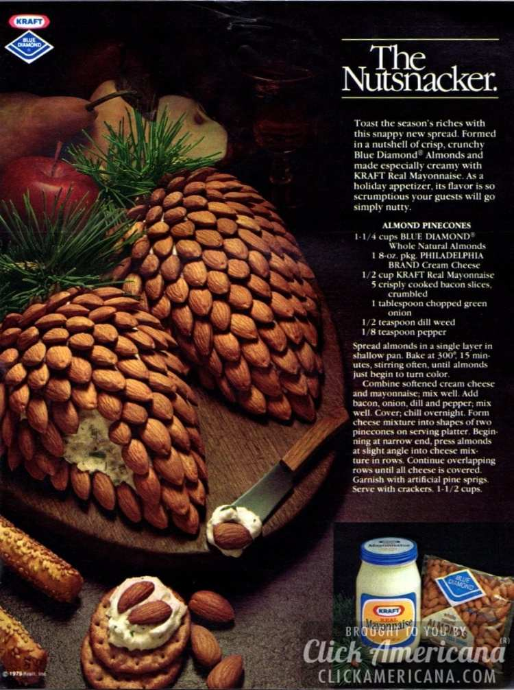 The Nutsnacker: Almond Pinecones cheese