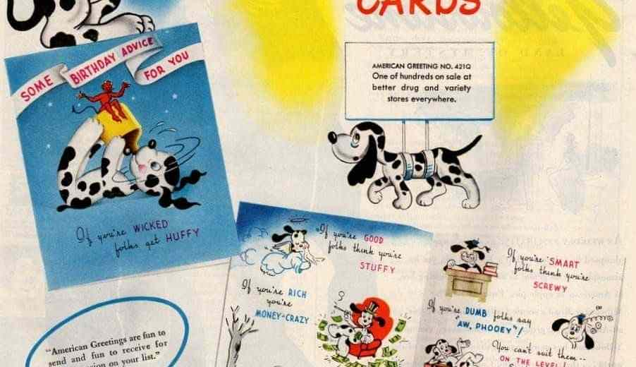 Vintage birthday cards from american greetings 1946 click americana undefined american greetings greeting cards march 1946 m4hsunfo