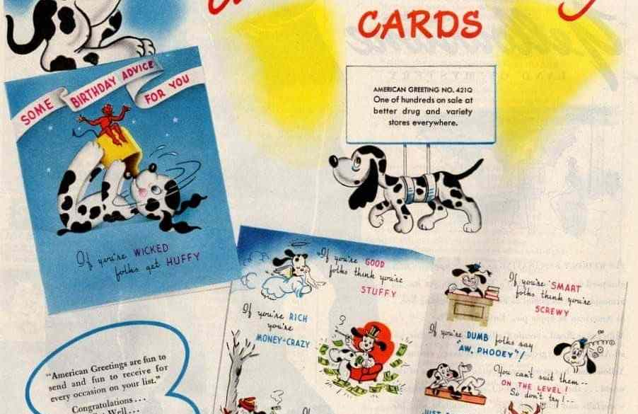 Vintage Birthday Cards From American Greetings 1946