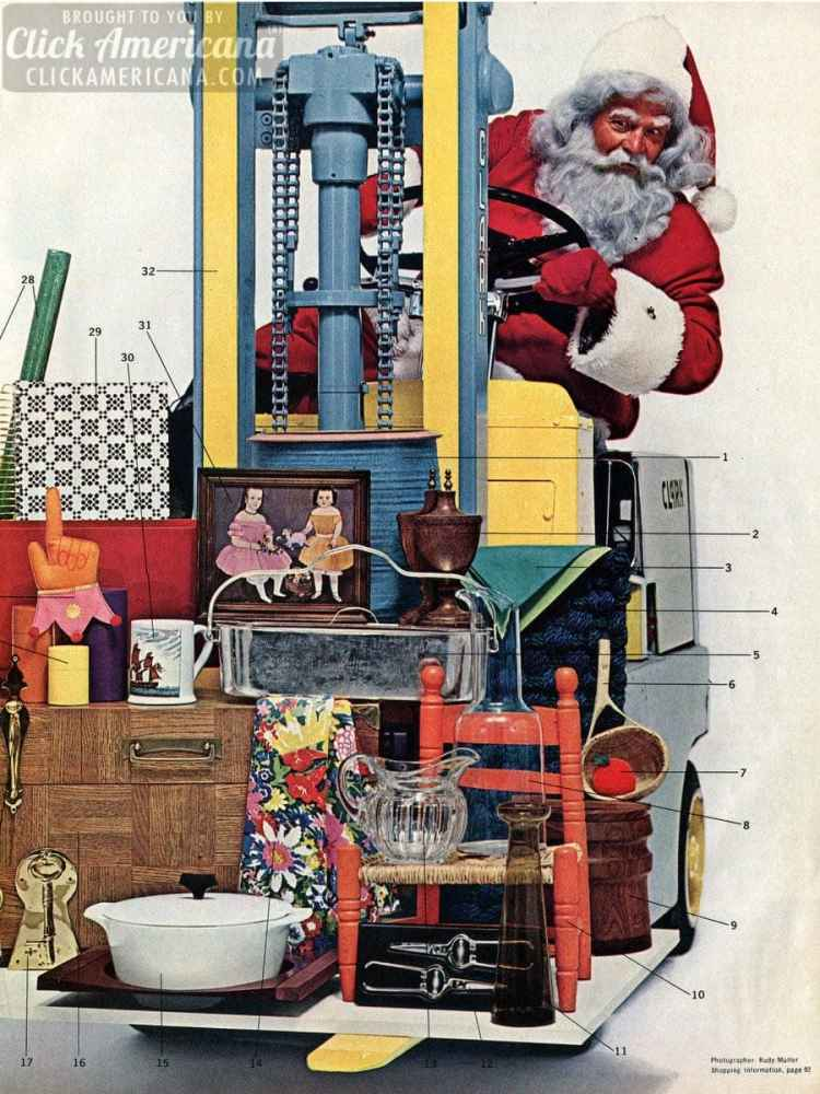 Creative vintage Christmas gifts for the home (1964)