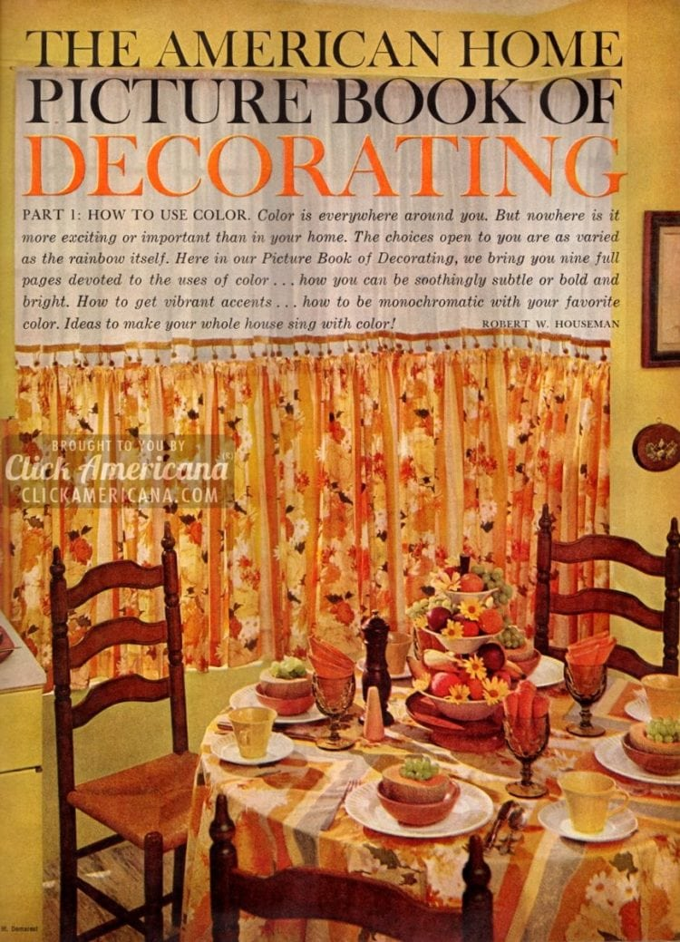 Home decor, 1959-style: Be generous with color