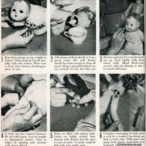 How To Repair Your Child S Favorite Doll 1950 Click Americana