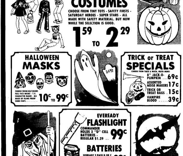 halloween candy costume ads 1973 1975 1970s