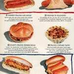 Herbed franks and rolls, Franks in blankets, Snappy frank-cheese rolls, Frank-custard tarts, Sauerkraut frankfurters, Frank-cheese burgers