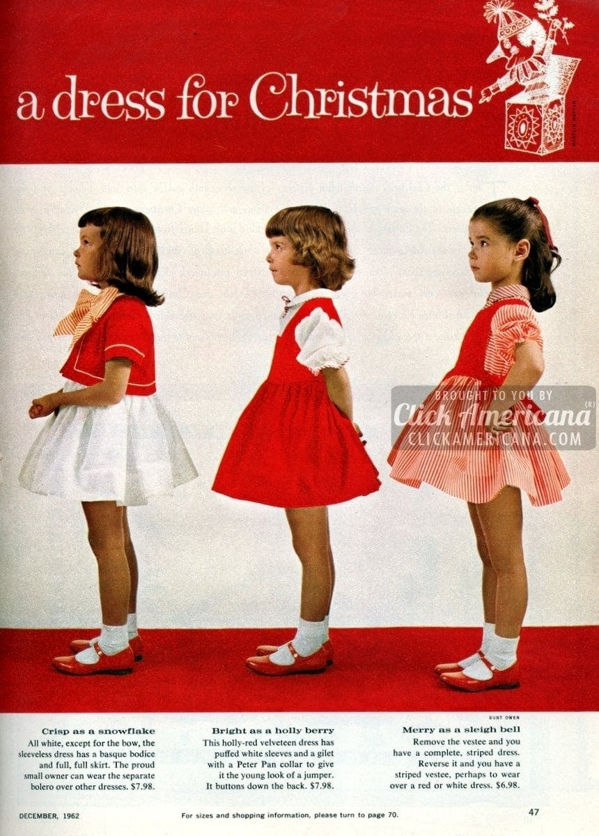 Sweet sugarplums: Christmas dresses for little girls (1962) - Click ...
