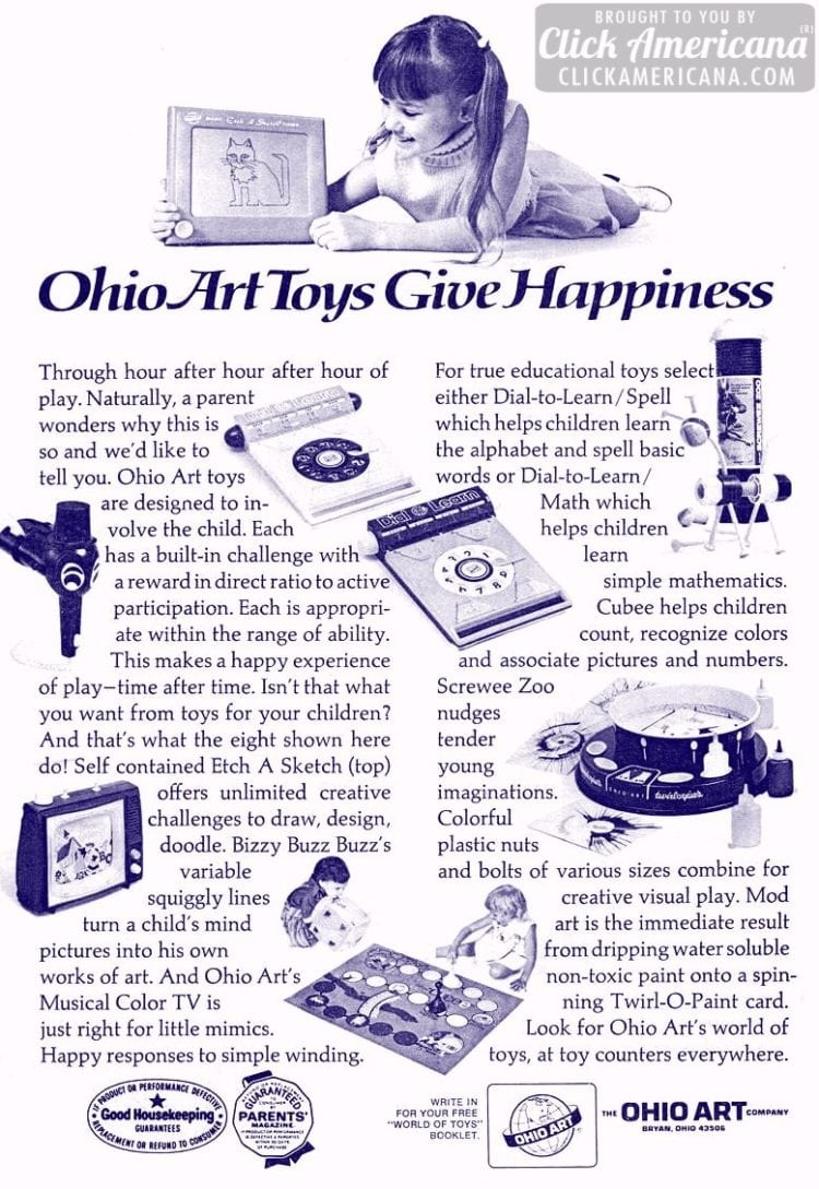 Ohio Art Toys Give Happiness