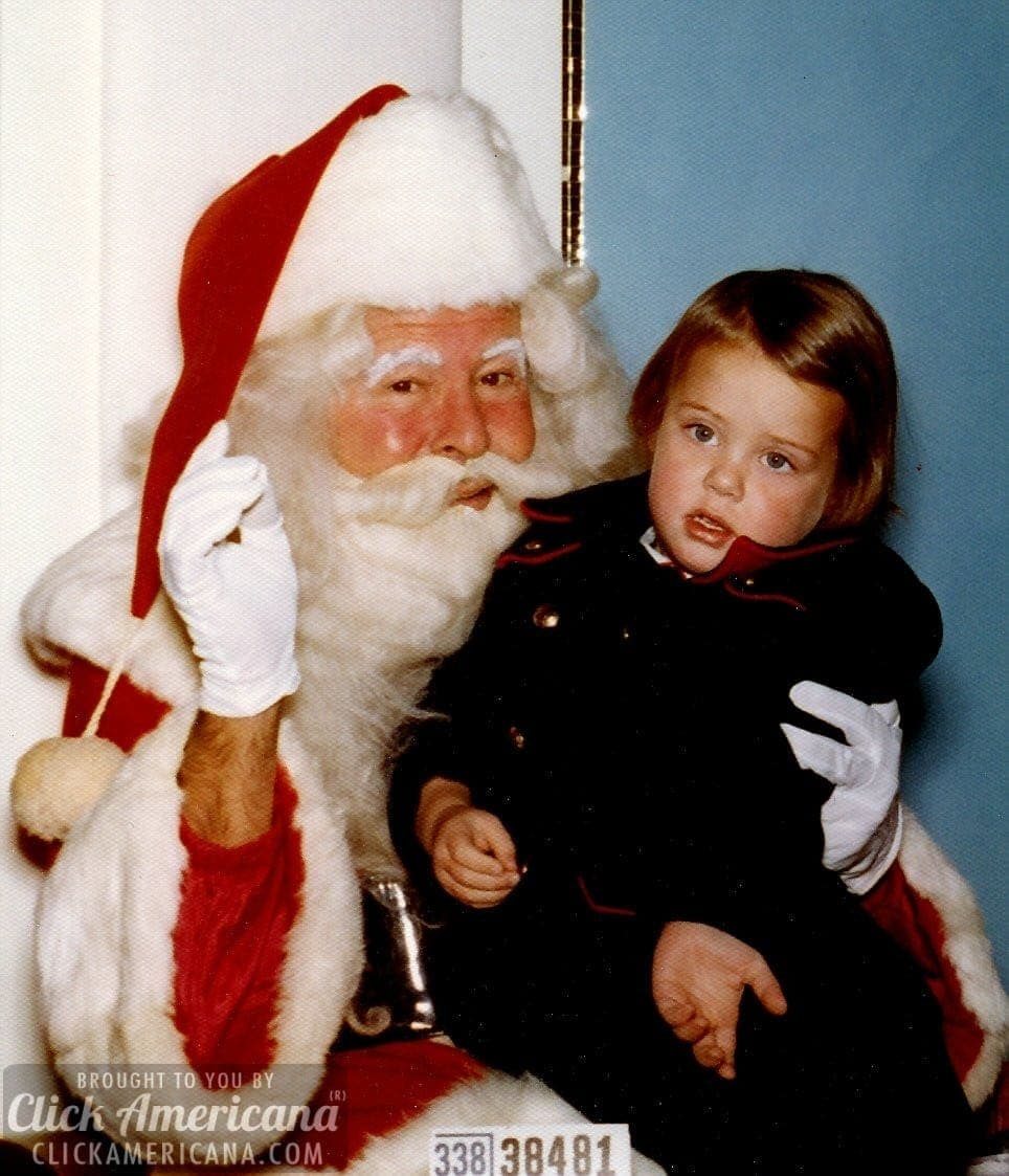 Vintage Ho Ho Holiday Photos With Santa 1940s 1990s
