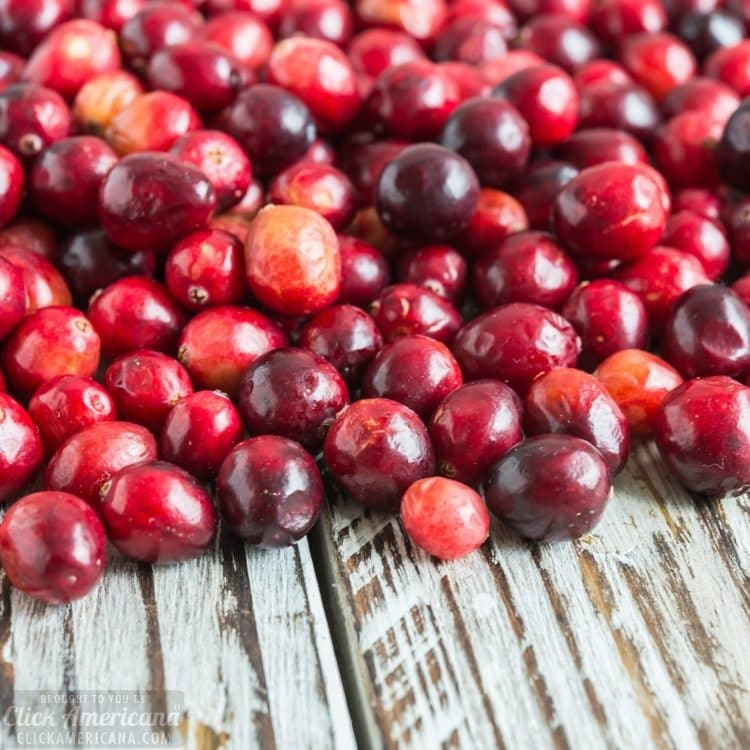Whole cranberries for classic cranberry sauce